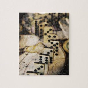Old world map jigsaw puzzles zazzle row of dominoes on old world map jigsaw puzzle gumiabroncs Choice Image