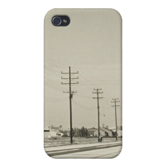 Row of Electricity Poles Covers For iPhone 4