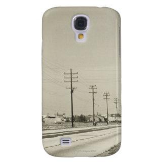 Row of Electricity Poles Galaxy S4 Case