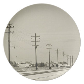Row of Electricity Poles Party Plates