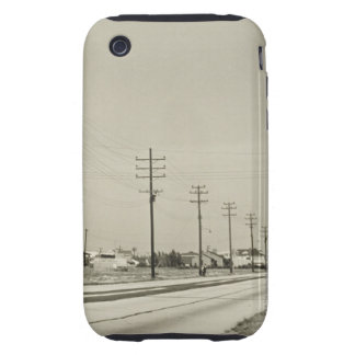 Row of Electricity Poles Tough iPhone 3 Case
