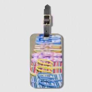 Row Of Flip-Flops Luggage Tag