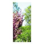 Row of Flowering Trees Customised Rack Card