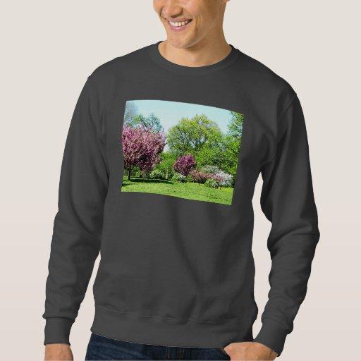 Row of Flowering Trees Sweatshirt