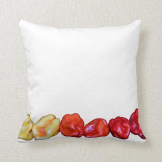 row of habanero hot pepper cushions