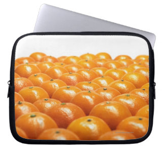 Row of oranges laptop sleeve