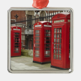 Row of phone boxes at the back of the Royal Christmas Ornament