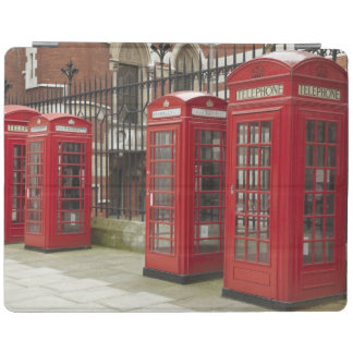 Row of phone boxes at the back of the Royal iPad Cover
