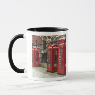 Row of phone boxes at the back of the Royal Mug