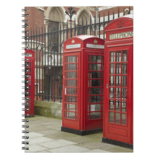 Row of phone boxes at the back of the Royal Notebook