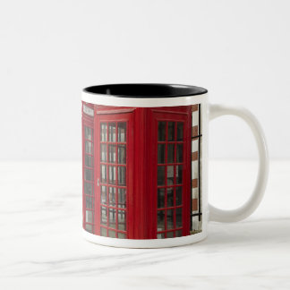 Row of phone boxes at the back of the Royal Two-Tone Coffee Mug