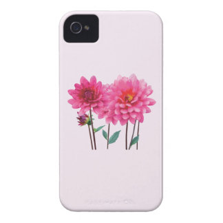 Row of Pink Dahlias Case-Mate iPhone 4 Case