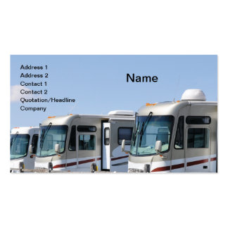 row of recreational vehicles pack of standard business cards