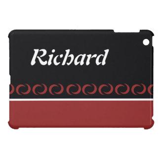 Row of semicircles black, red white retro iPad mini case