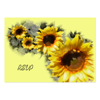 Row of Sunflowers Wedding RSVP Response Card Pack Of Chubby Business Cards