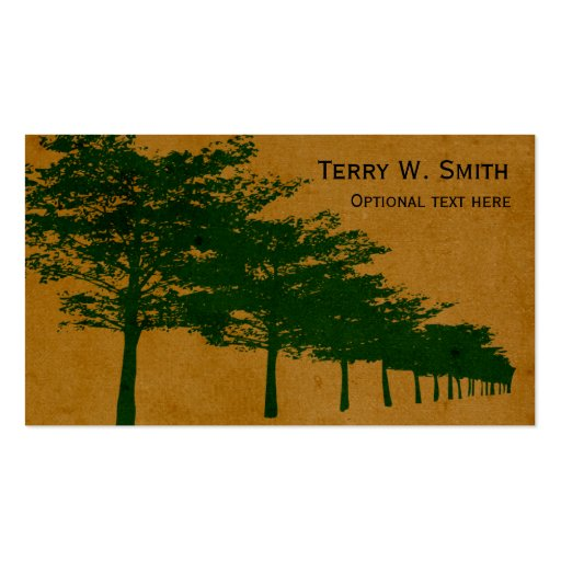 Row Of Trees Business Card