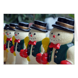Row of Vintage Snowmen Card