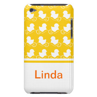 row of white ducks in yellow iPod Touch Case-Mate