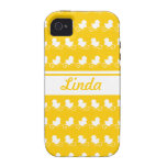 row of white ducks yellow iPhone 4 Case-Mate iPhone 4/4S Covers