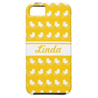 row of white ducks yellow iPhone 5 Case-Mate