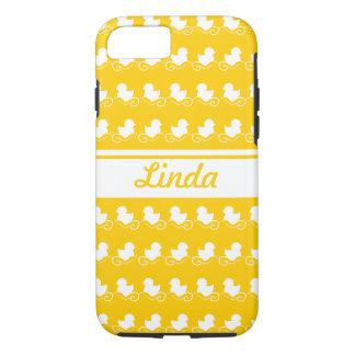 row of white ducks yellow iPhone 7 iPhone 8/7 Case