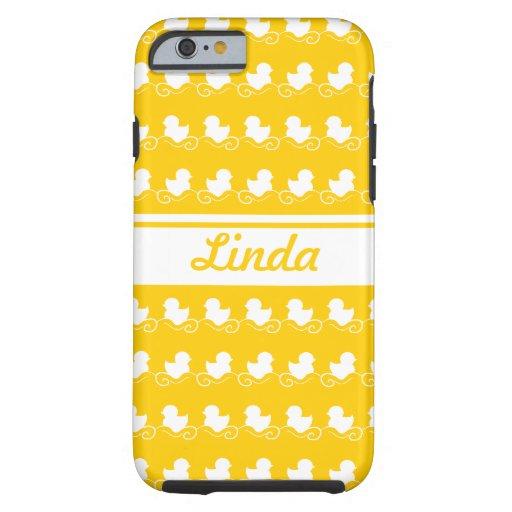 row of white ducks yellow -Mate iPhone 6 Case