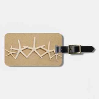Row of White Starfish Luggage Tag