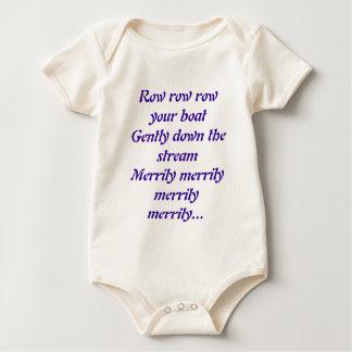 Row row row your boat baby bodysuit