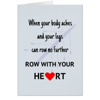 Row with your heart card