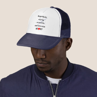 Row with your heart motivational trucker hat
