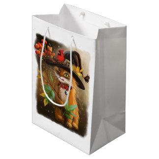 Rowan and cardinal medium gift bag