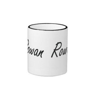 Rowan artistic Name Design Ringer Mug