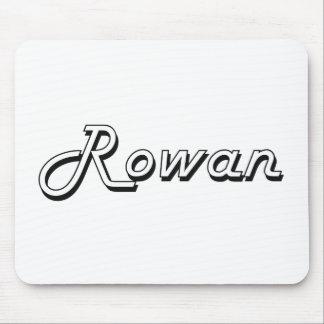 Rowan Classic Retro Name Design Mouse Pad