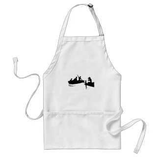 Rowboat and Dock Silhouette Standard Apron