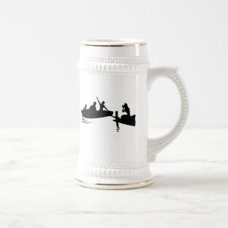 Rowboat and Dock Silhouette Beer Steins