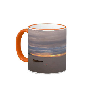 Rowboat at Sunset Mugs