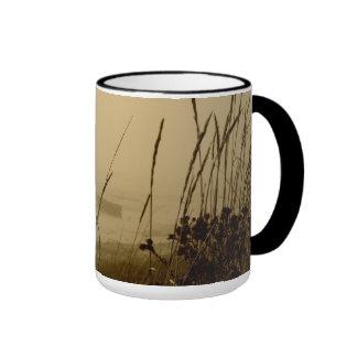 Rowboat In Fog Coffee Mug