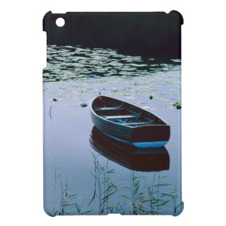 Rowboat on small lake surrounded by water case for the iPad mini