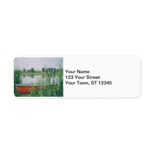 Rowboat Return Address Label