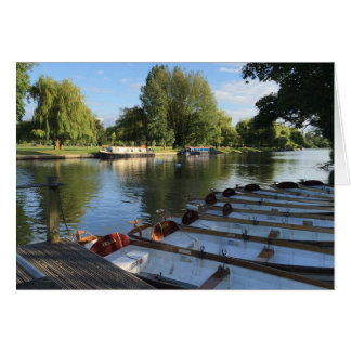 Rowboats Boats on the River Stratford Upon Avon UK Card