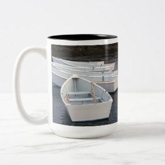 Rowboats Two-Tone Coffee Mug