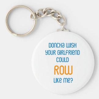 RowChick Doncha Basic Round Button Key Ring
