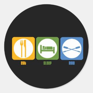 RowChick Eat Sleep Row Round Sticker