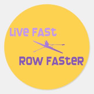 RowChick Live Fast Row Faster Sticker