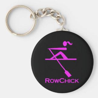 RowChick Logo Basic Round Button Key Ring