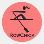RowChick Logo Round Stickers