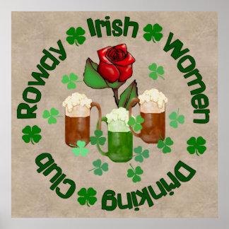 Rowdy Irish Women Posters