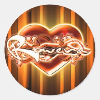 Rowena Round Sticker