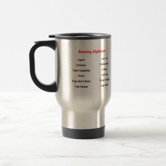 Rowers Alphabet fun A to Z Travel Mug