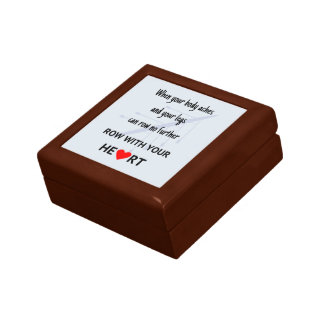 Rowers motivational quote gift box